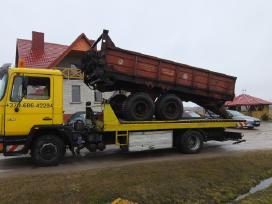 Tralas Platforma, Krovinių - Traktorių vežimas 17t - nuotraukos Nr. 9