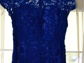 Mėlyna trumpa suknelė