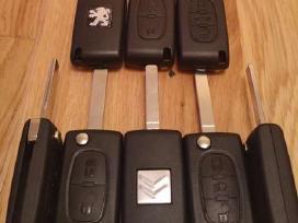 Peugeot raktai 307 407 206 607 207 raktas korpusai - nuotraukos Nr. 2