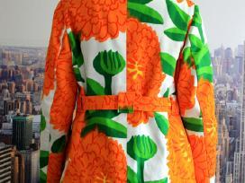 Ryškus drobinis moteriškas švarkas su gėlėmis - nuotraukos Nr. 3