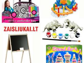 Kūrybiniai rinkiniai: piešimo lenta, molbertas, tt