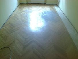 Medinių grindų šlifavimas ir sudėjimas