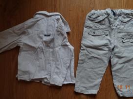 Chicco lininės kelnės. 12 mėn. 74 cm.