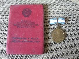 Medalis CCCP Su Dokumentu .zr. foto.