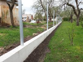 Tvoros pamatai, tvorų stulpų betonavimas - nuotraukos Nr. 3