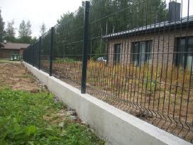 Metalinės, skardinės, segmentinės tvoros tvėrimas - nuotraukos Nr. 5
