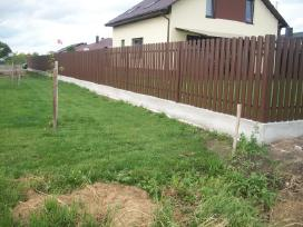 Metalinės, skardinės, segmentinės tvoros tvėrimas - nuotraukos Nr. 3
