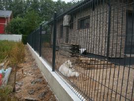 Vartai, medinės metalinės tvoros, tvorų pamatas