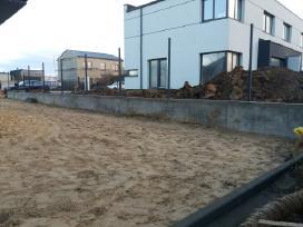 Tvoros pamatai, tvorų stulpų betonavimas - nuotraukos Nr. 5