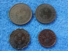 5, 10, 20 ir 50 centu Hong- Kong