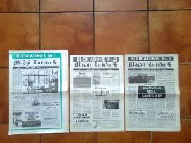 """Pirmieji blokadiniai """" Mazoji Lietuva """" numeriai"""