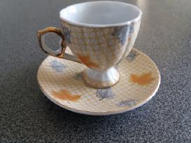 Paauksuotas porcelianinis komplektas (6 vnt.)