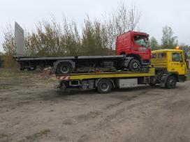 Tralas Platforma, Krovinių - Traktorių vežimas 17t - nuotraukos Nr. 4