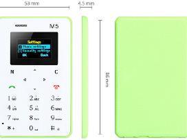 Aeku M5 ir X6 mini telefonai