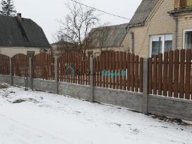 Skardinės tvoros arka
