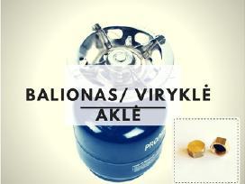 Dujų balionas su virykle + aklė dovanų