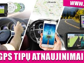 Visų GPS Tipų Žemėlapių Atnaujinimai, Įdiegimai