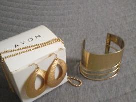 Aukso spalvos rinkinys (paauksoti): apyrankė, ausk