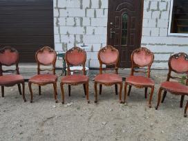 Klasikinis itališkas stalas ir 6 drožinėtos kėdės