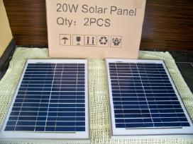 Saulės elektros baterija 20w jėgainė - elektrinė - nuotraukos Nr. 4