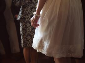 """Trumpa, lengvutė vestuvinė """"Tiulio fėja"""" suknelė"""