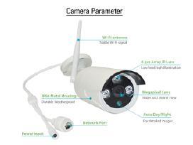 Belaidė/laidinė1mp(HD) stebėjimo kamerų sistema