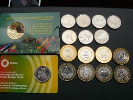 Visos lietuviškos proginės apyvartin. litų monetos