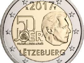 """Liuksemburgas 2 euro 2017 """"Karinė tarnyba"""" Unc"""