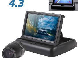 Galinio vaizdo parkavimo kamera ir LCD monitorius