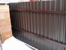 Tvoros iš profiliuotos dvipusės skardos
