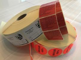 Lipdukų, etikečių gamyba