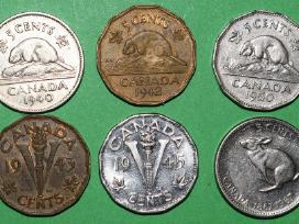 Canada 1940-1967 pinigai(6) 5 cents