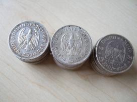 Moneta sidabrine markes vokietija