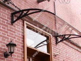 Apsauginiai stogeliai įejimo durims vilniuje - nuotraukos Nr. 2