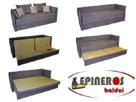 Sofos lovos, minkšti kampai, foteliai, tachtos - nuotraukos Nr. 3