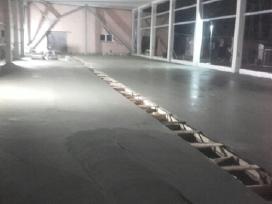 Betonavimas, pramoninės betoninės grindys.