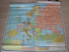 Įvairūs tarybinių laikų sieniniai žemėlapiai
