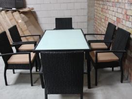 Valgomajo tipo lauko baldu komplektas šešiavietis