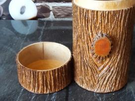 Medinė papuošalų dėžutė