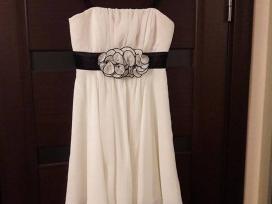 Trumpa šampano spalvos suknelė