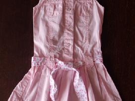 Rausva suknelė su dirželiu 12-18 mėn. 80cm