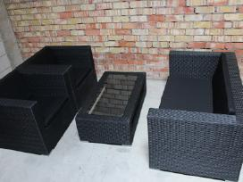 Lauko baldu komlektas 2+1+1 juodas