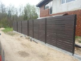 Tvoros įrengimas, atraminių sienučių betonavimas