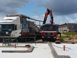 Krovinių vežimas fiskaru, krano nuoma, paslaugos