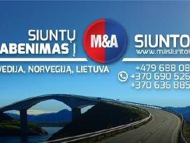 Siuntos Svedija Norvegija Lietuva