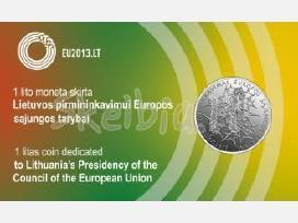 1 Litas Pirmininkavimui Es 2013m.
