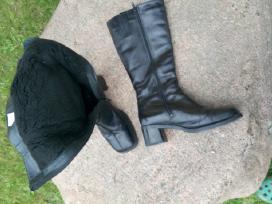 Odiniai moteriški žieminiai batai