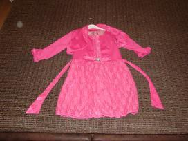 Rožinė suknelė su švarkeliu 146-152 cm mergaitei