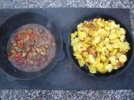 Kazanas gurmaniskam maistui yra 8,12 ir 20 litru