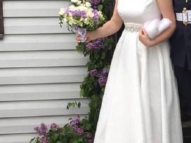 Pieno baltumo vestuvinė suknė